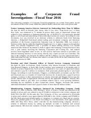 Examples of Corporate Fraud Investigations.docx