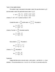 2-Topics in Linear Algebra handout