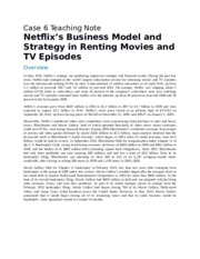 Netflix's Business Model and Strategy in Renting Movies and TV Episodes