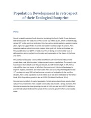 Population Development in retrospect of their Ecological footprint