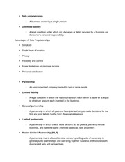 Business Honors Class Notes Chapter 5 notes