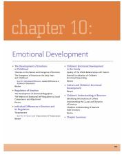Chapter 10 - Emotional Development