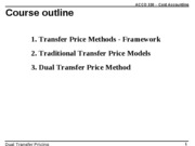 ACCO 330 -  Dual Transfer Pricing