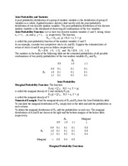 Joint Probability and Statistics-ECO6416