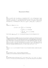 Homework 6 Solution on Real Analysis Fall 2014