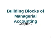 Chpt 2 Building Blocks of Managerial Accounting