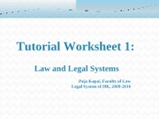 Legal System TW1 PPT 0709091