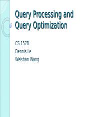 Ppt ics 421 spring 2010 relational query optimization powerpoint.