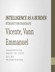 WC - IPPT - Intelligence as a Burden - (Vicente)