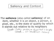 Saliency and Context