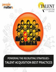 RESEARCH Talent acquisition best practices - Powering the recruiting strategies.pdf