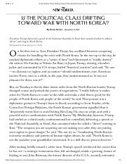 New Yorker(171108)Drifting Toward War with North Korea_ _ The .pdf