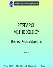 ResearchMethodology_Week09.ppt