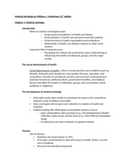 Textbook notes chapter 1- MS