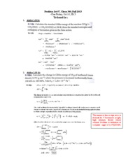 Solution to Problem  set 7