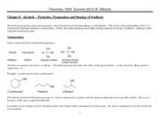 Chem 140A Lecture Notes  Summer 2012 Ch 8