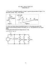 Homework 7 on Circuit Analysis