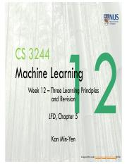 Lect12 Three Learning Principles and Revision