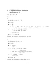 CHEE 231 Assignment 7 solutions