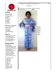 HOW TO WEAR YUKATA PART 4 - Go Japan Go