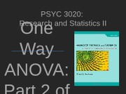 PSYC 3020 - Lecture 04 - ANOVA 2 of 2