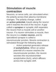 Stimulation of muscle contraction