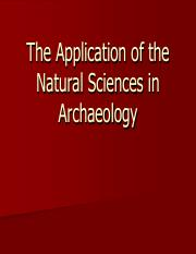 9. The Natural Sciences