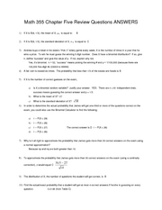 Ch 5 Review Set ANSWERS