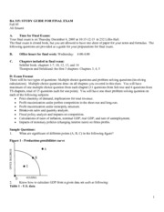 Review for final exam  BA 315 Fall 05