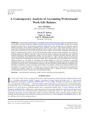 A Contemporary Analysis of Accting Professionals'