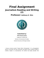 Final Assignment- Journalism Reading and Writing (2).docx