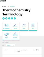 Thermochemistry Terminology Flashcards | Quizlet