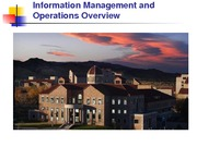 Class 3 - Information Management and Operations Overview with FedEx (DGO) POSTED