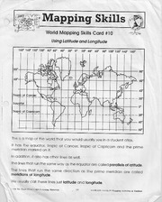 Mapping Skills Homework For CGC 1D0