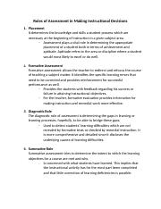 Roles of Assessment in Making Instructional Decisions.docx