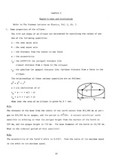 Exercises Ch 03 Kepler's Laws and Gravitation