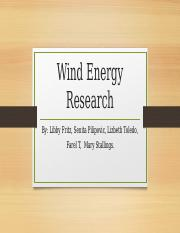 Wind Energy Project 2016