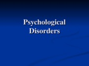 14 Psychological Disorder
