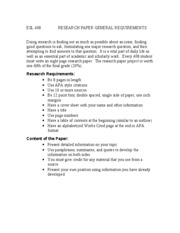 ESL 408  RESEARCH PAPER GENERAL REQUIREMENTS