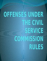 offenses_under_the_civil_service_commission_rules