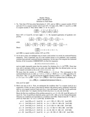 MATH 346 Final Exam Solutions