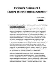 Sourcing Energy at steel manufacturer