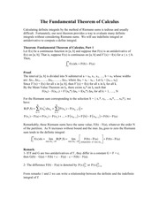 5.6 The Fundamental Theorem of Calculus