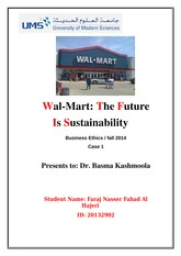 Wal-Mart The Future Is Sustainability - 3