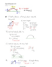 PHYS 11 Type 1 Projectile Notes