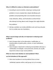 Solutions to Social Problems.docx