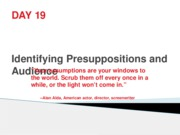 Day19-Presupppositions&Audience1