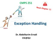 [Fall 2013] Lecture #7 - Exception Handling