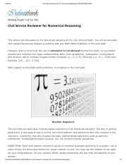 Civil Service Reviewer for Numerical Reasoning _ INFINITHINK