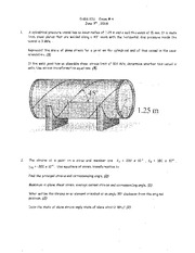 Exam 4 Spring 2009 Solution on Mechanics of Materials